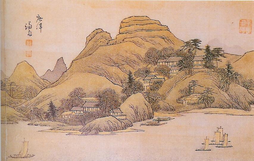 정선이 그린 「광진」. 조선시대